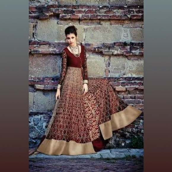 Dresses | Indian Attire Party Wear Gown Style Net Anarkali | Poshmark